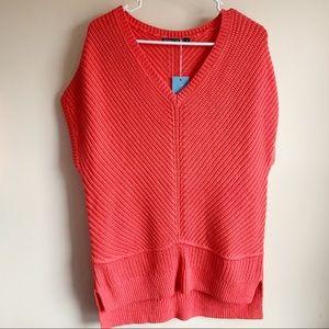 Woolovers Chunky Short Sleeve Sweater Tunic NWT